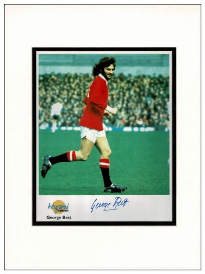 George Best Autograph Signed Photo